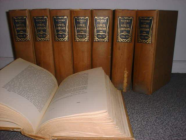 THE WORKS OF SAMUEL JOHNSON - 8-VOLUMES SET. Samuel Johnson.