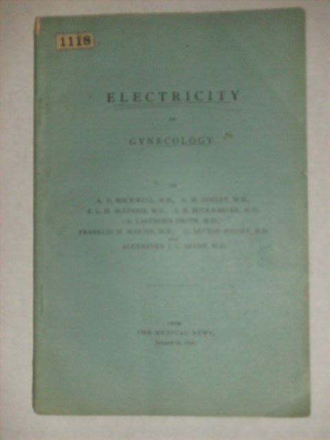 ELECTRICITY IN GYNECOLOGY. A. D. Rockwell, M. D.