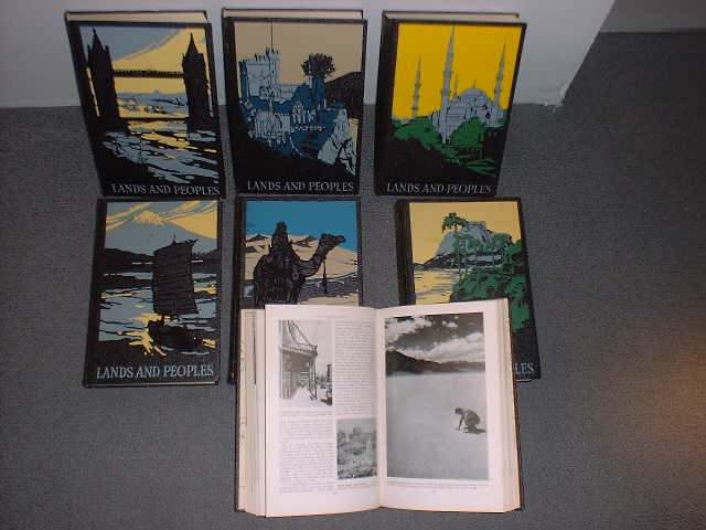 Lands and Peoples. The World in Color - 7 Volume Set (complete). Lowell A. Martin, Helen Hynson Merrick.