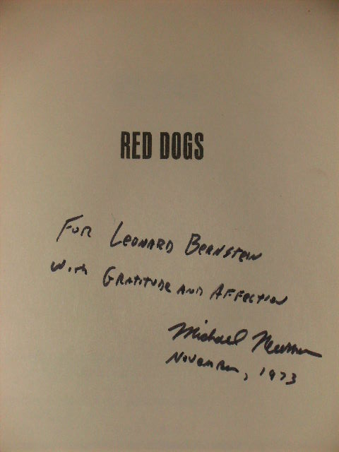 """RED DOGS"" - [signed]. Michael Newman."