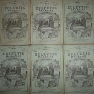 The Eclectic Magazine of Foreign Literature, Science, and Art : July to December. 1871. New series. Vol. XIV -- 1-6.