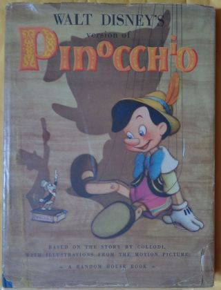 Walt Disney's version of Pinocchio, SIGNED by Marge Champion, Disney star dancer, actress and...