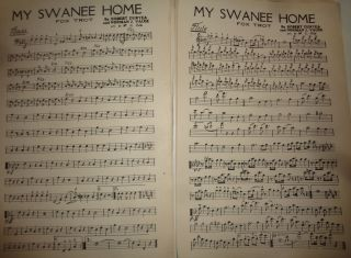 MY SWANEE HOME - A SYMPHONIC FOX TROT (UNUSUAL RYTHYM) - SHEET MUSIC FOR ORCHESTRA