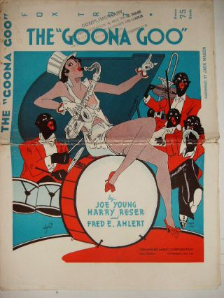 "THE ""GOONA GOO"" - FOX TROT - SHEET MUSIC FOR ORCHESTRA"
