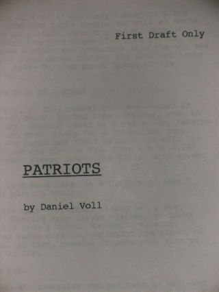 PATRIOTS - Screenplay